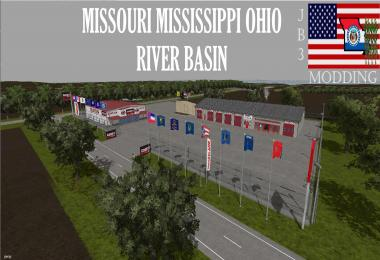 Missouri Mississippi Ohio River Basin Flags