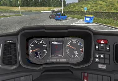 New Gen Scania Dashboard Glass Reflection Addon v1.0