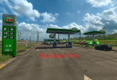 Real Diesel Prices ProMods 2.25 & RusMap 1.7.5