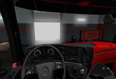 Red-Black the luxury HD interior Actros MP4 2014 v1.2