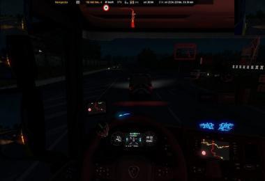 Scania NextGen S_R Blue Backlight Dashboard v1.0