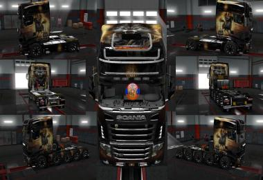 Scania r700 Concept Volvo vnl670 Girl Warrior Skins 1.30