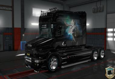 Scania RJL Girl on Lion Skin