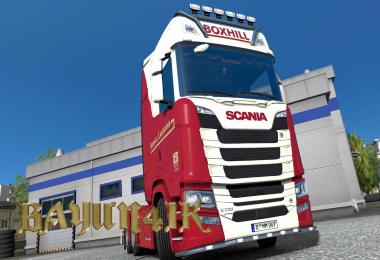 Scania S 2016 SCS Boxhill Caravans skin 1.30