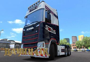 Scania S 2016 SCS Smiths heavy haulage skin 1.30