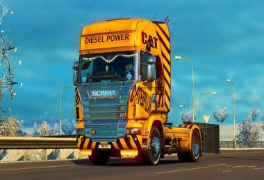 Skin Cat for Scania R v1.0