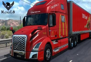 Skin McDonalds Volvo VNL 760 2018 + Cargo v1.0