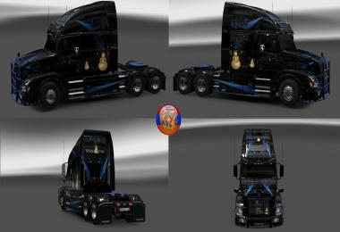 Volvo vnl670 Сombo skin packs Winter style 1.30