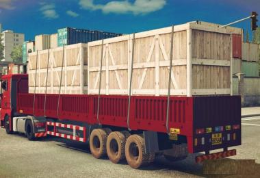 Wooden Box for Low Column Flatbed Trailer v1.0