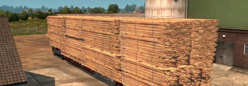 17.5M Flatbed Trailer wood transportation v1.0