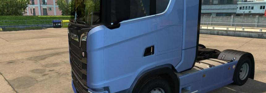 Animated side curtains for Scania Next Gen v1.0