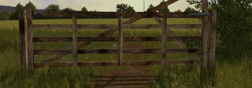 A Wooden Gate To Use On Maps v1.0
