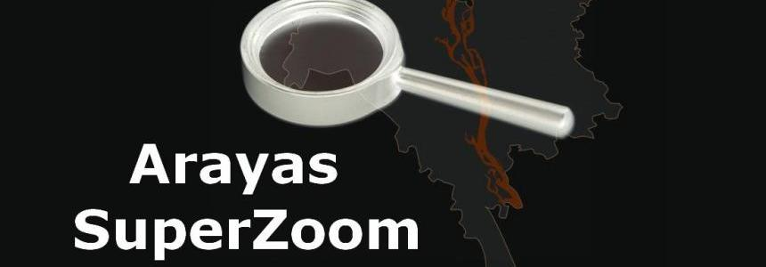 Arayas SuperZoom (for big maps) 1.30