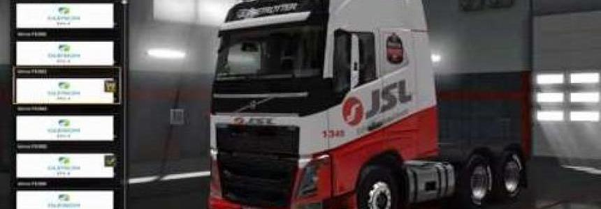 Brazilian companies skin for Volvo FH 2012 and trailers