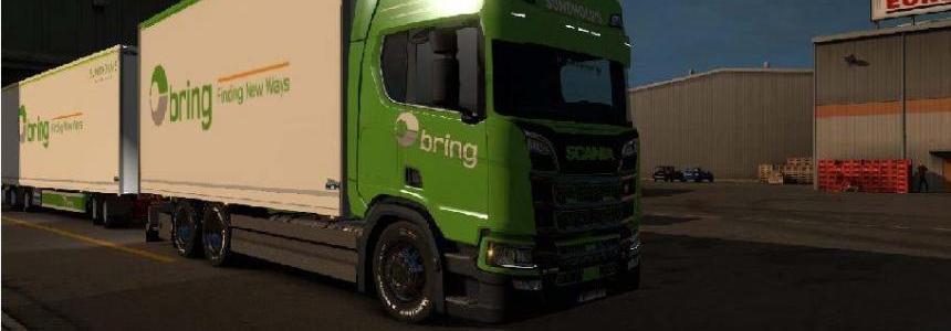 Bring NTM Scania Next Gen S & R 2016 + Trailer v1.0