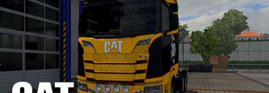 CAT skin for Scania S Next Gen 1.30.x