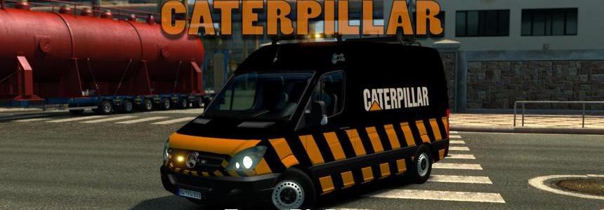 Escort MB Sprinter Caterpillar DLC Special Transport v1.0