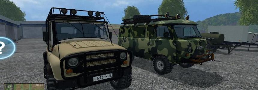 FS15 UAZ and Trailers Pack v1.0