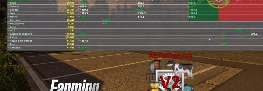 Multi Overlay Hud LS17 Convert v2.98 Beta
