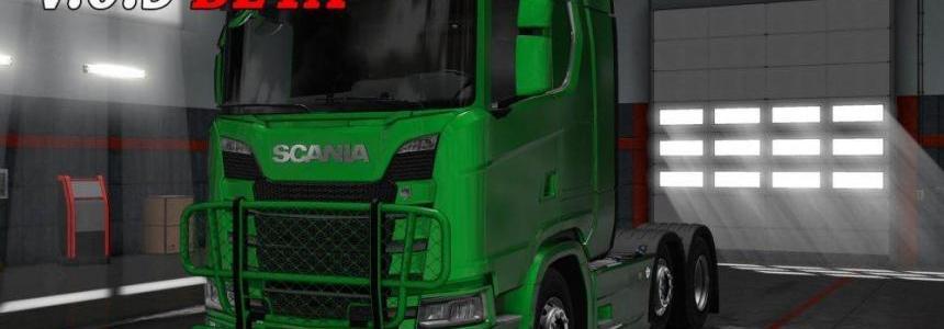 Painted Trux Bullbar NexGen Scania S&R v1.0