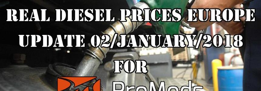 Real Diesel Prices for Europe for Promods v2.25 (Date: 02/01/2017)