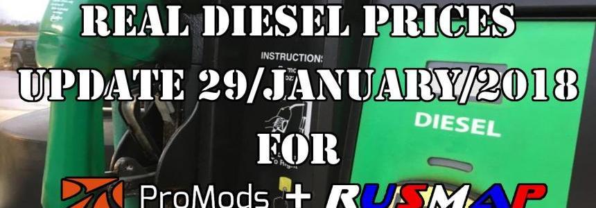 Real Diesel Prices Promods 2.25 & RusMap 1.8 (update 29-01-2018)