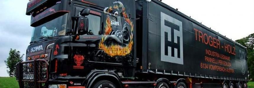 Scania Ghost V8 Open Pipe Sound 1.30