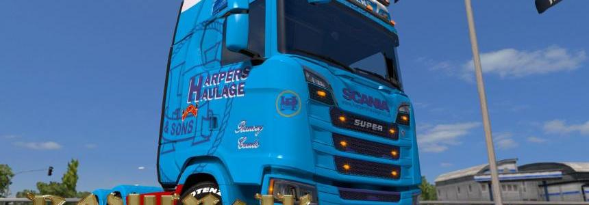 Scania S 2016 SCS Harpers Haulage skin 1.30