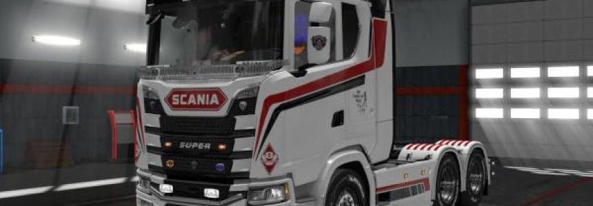 Scania S – White Commander Skin