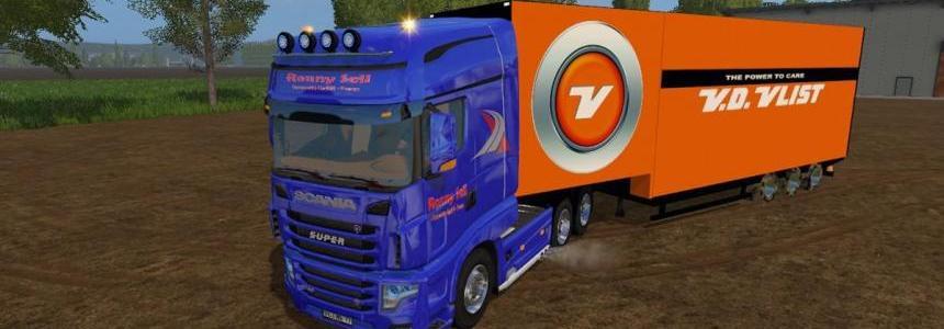 Semi trailer van der Vlist v1.0