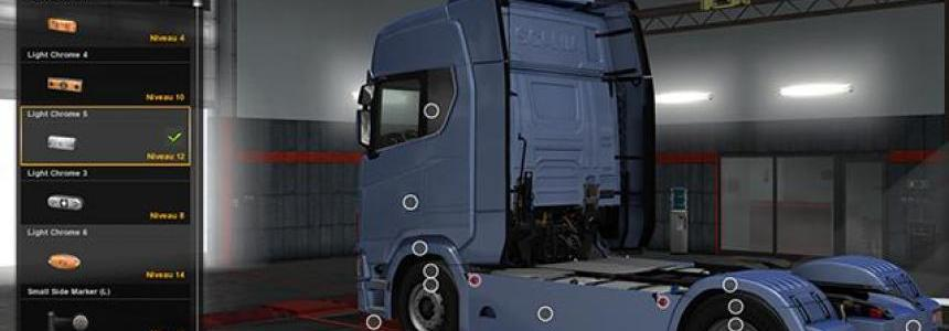 Sideskirt custom Scania 2016 S and R 1.30