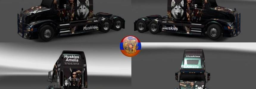 Skin Huskies Amelia for Volvo VNL670 by Karen Grigoryan 1.30.2.2s