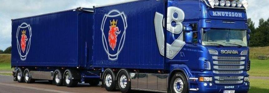 Scania V8 Sound for Scania R v1.0