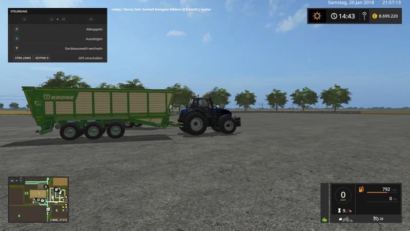 Krone TX560D with trailer hitch v1.0