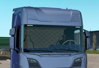 Blue Danish Interior for Scania New Generation v1.0