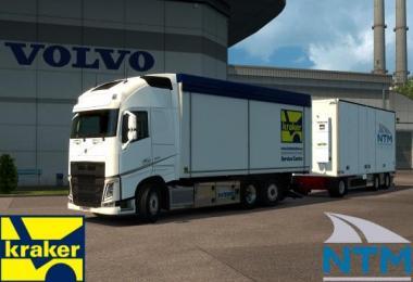 Kraker/NTM Tandem addon for Volvo FH 2012 1.30