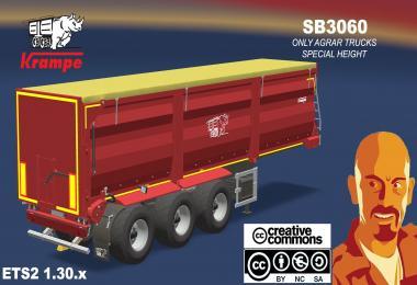 KRAMPE SB3060 AGRAR TRAILER ETS2 1.30.x