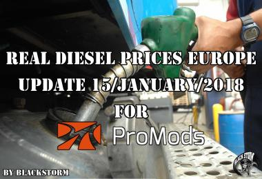 Real Diesel Prices for Europe for Promods v2.25