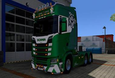 Squirrel Logistics Metallic skin for Scania R, S Next Gen 1.30.x