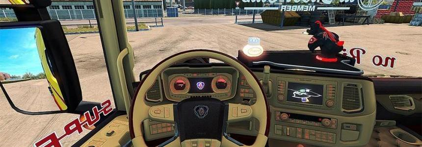 Scania S 2016 SCS Red & Beige Interior (In & Outside)