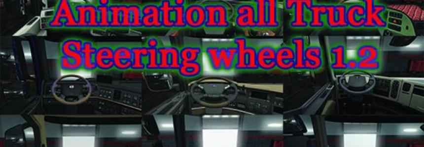 Animation all Truck Steering Wheels v1.2 1.30