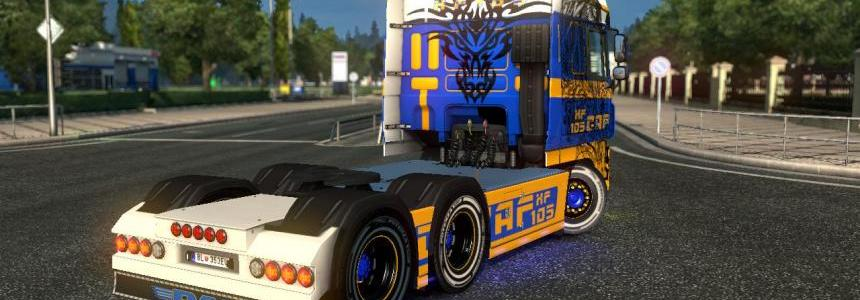 Daf XF 105 With Tattoo By Shadow X