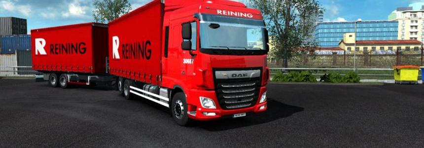 Daf XF Euro6 Truck BDF tandem and Reining skin v1.0