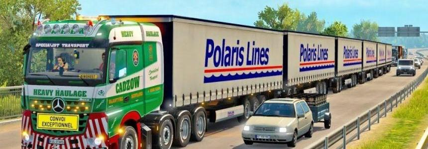 ETS2 Multiple Trailers v1.0