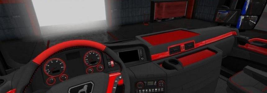 MAN TGX Red and Black Interior v1.0