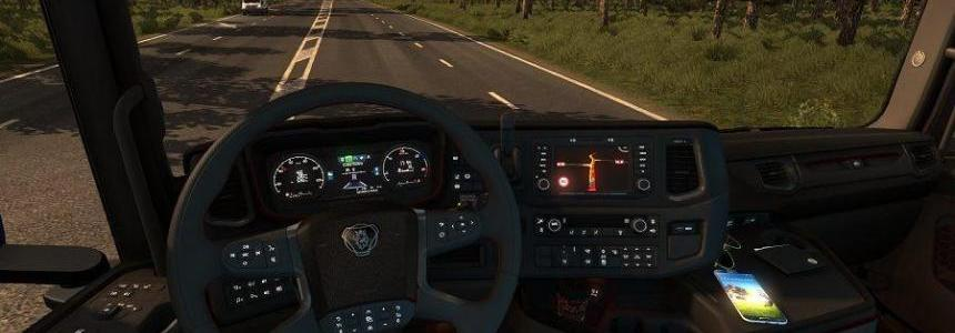 Scania New Generation Interior Black/Grey v1.0