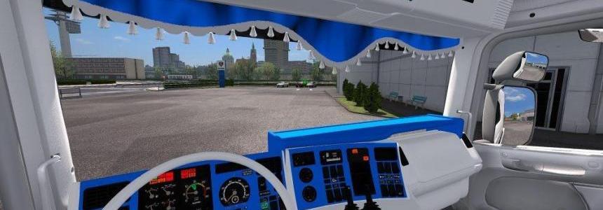 Scania RJL 4 Series | CMI White Blue Interior 1.30