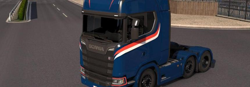 Scania S High Roof Simple Skin v1.0.1