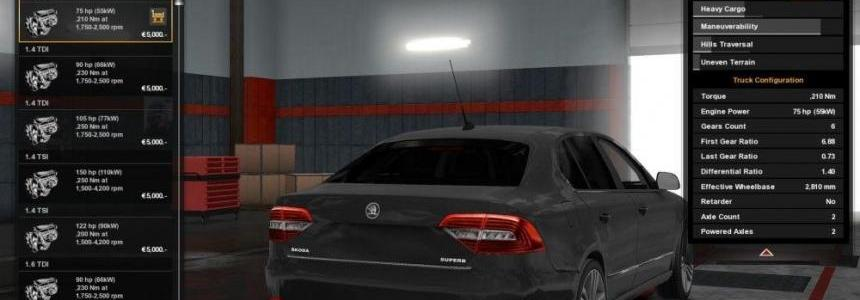 Skoda Superb with New Engines v1.0