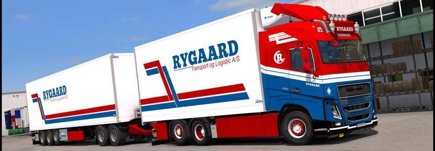 Volvo FH16 2012 Ryggard Transport Skin v2.0